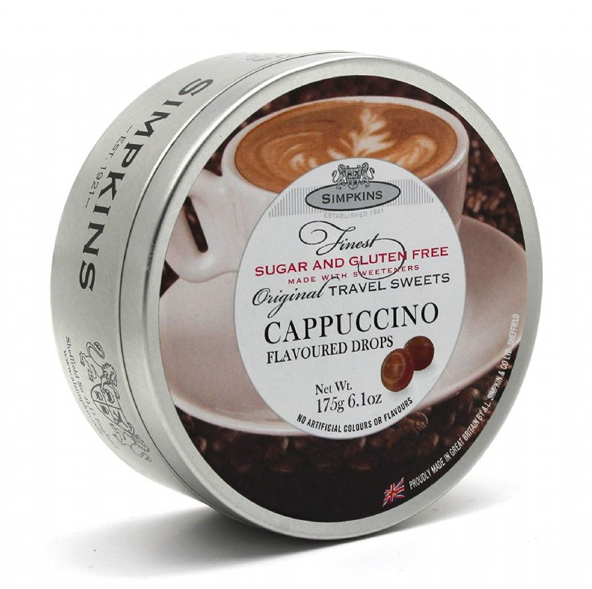 Cappuccino Sugar & Gluten Free - Simpkins Traditional Travel Sweets Tin 175g